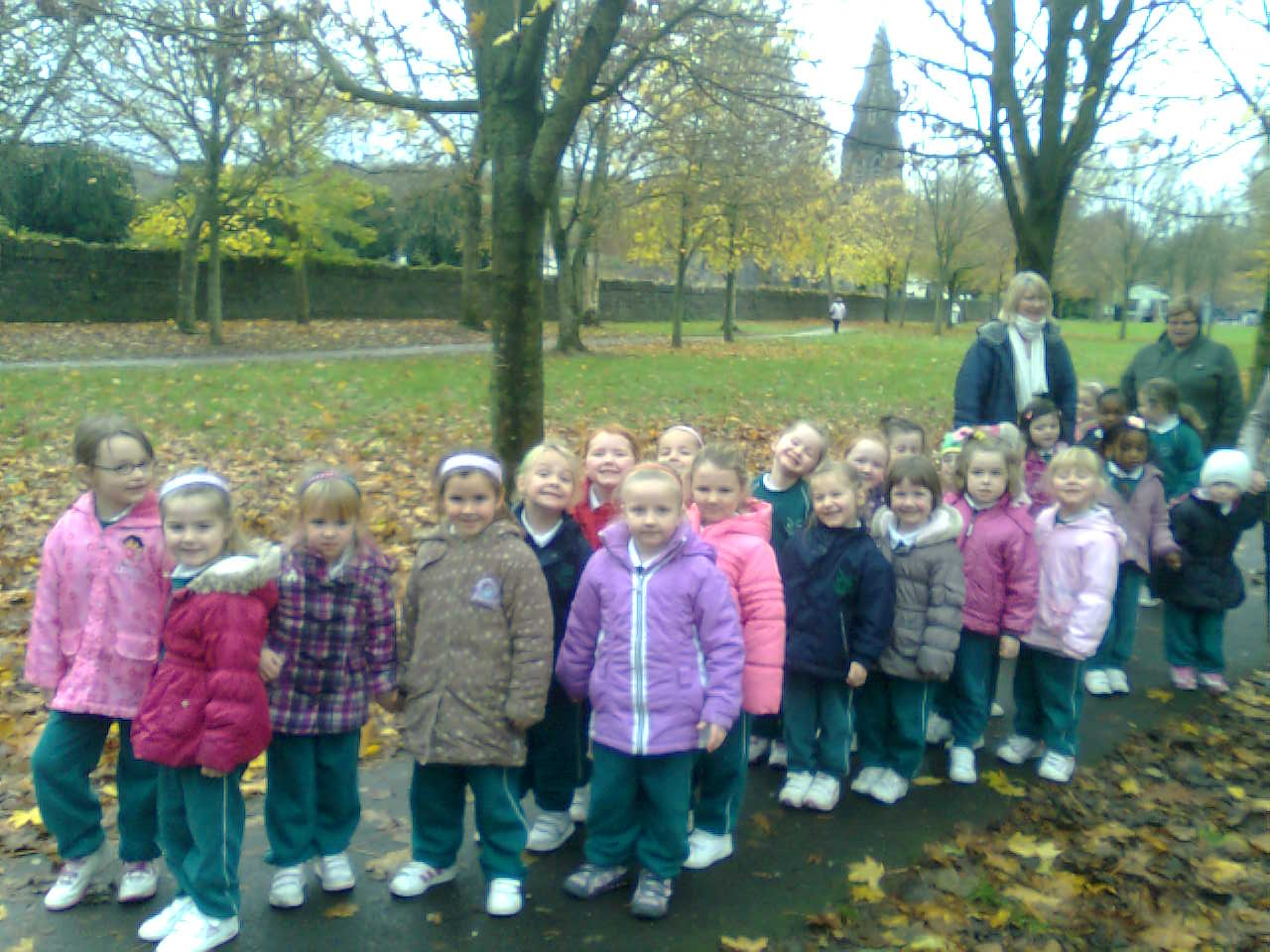 Junior Infants - We walked through the park to get to the library